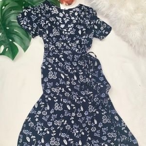 GAP Floral Midi Wrap Dress